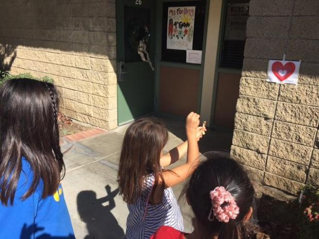 Kids testing their bows