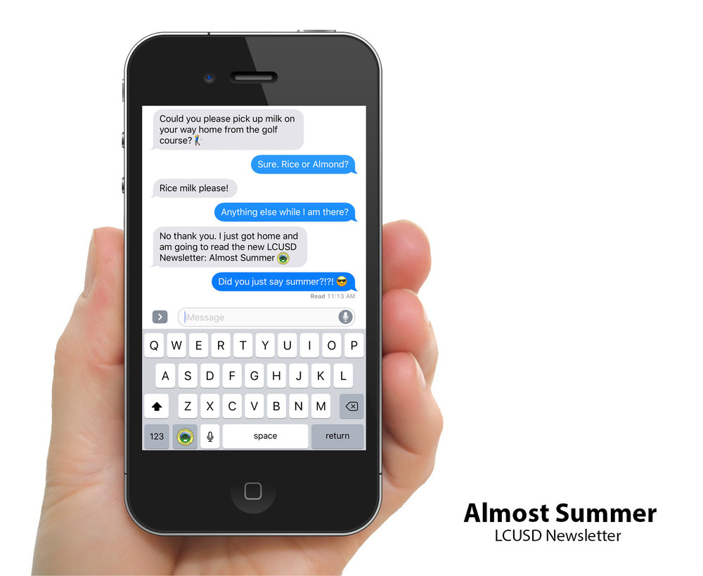 iPhone displaying iMessage conversation