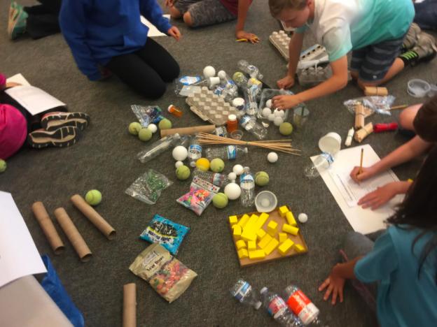 Students building a mousetrap
