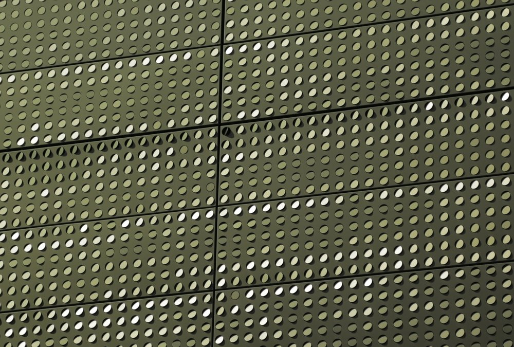 The Bloomberg Center Type:  Custom Facade for Educational Building  Status:  Completed 2017 (anticipated)  Client/Architect:  Cornell University/mOrphosis  Location:  New York, NY  The project was to develop an exterior screen system of louved panels. Each painted aluminum panel was arrayed with a a series of perforated tabs that were attached to the panel by a thin strip of material. Zahner used a 6-axis industrial robot arm to mainuplate each tab to a specific orientation. The resulting facade reflected sunlight in a dazzling fashion. Mr. Manto worked as a Design Engineer on the project while working with A. Zahner Company.  Images Courtesy of Zahner.