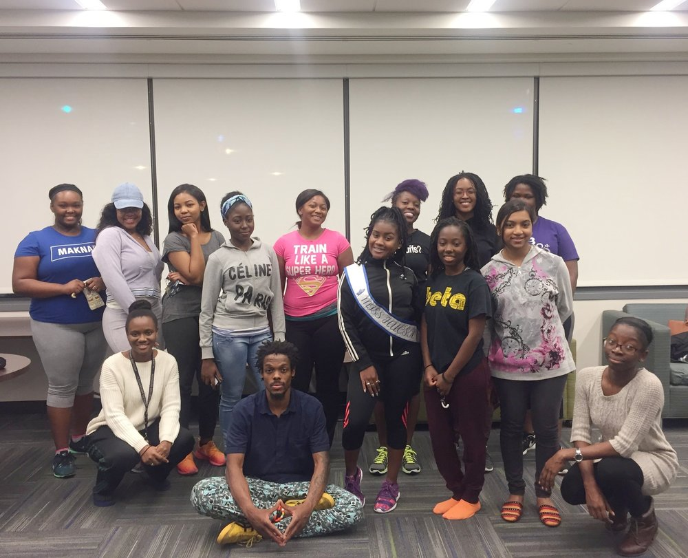 Cupid's Sting Self-Defense Class, Howard University   On October 11, 2016 in partnership with Howard University's Caribbean Students' Association (CSA) led a self-defense workshop with college freshman teaching them skills to properly protect themselves and to be prepared for a possible attack by a stranger or someone they know.