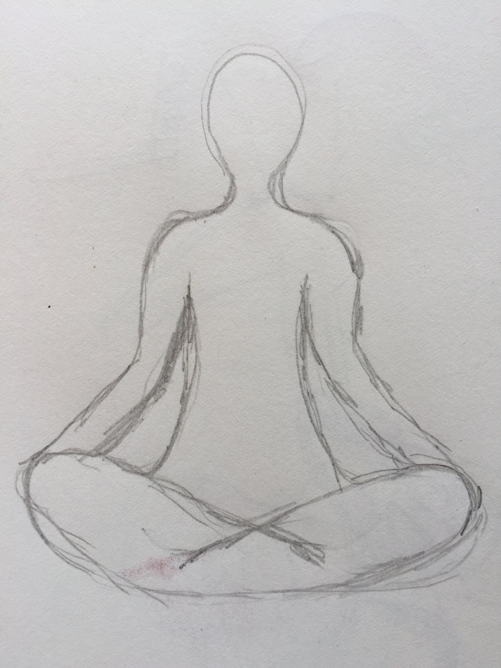 Simple drawing of pose