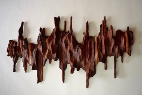 Abstract Wood Sculptures and Wall Installations - NATURE series ...