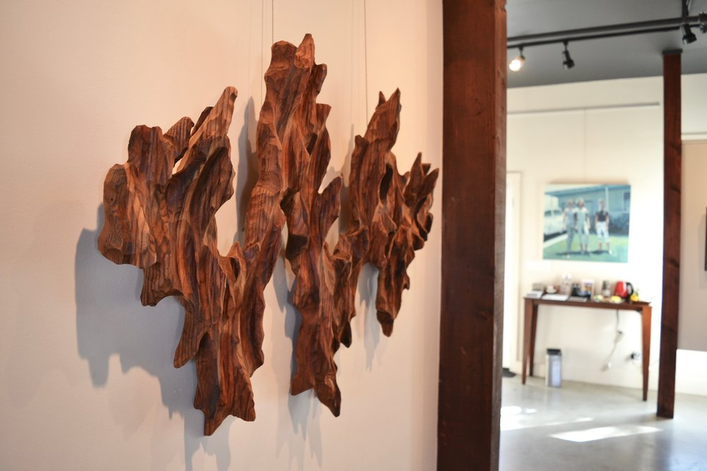 Wild Wave wall sculpture at SHOH Gallery in Berkeley
