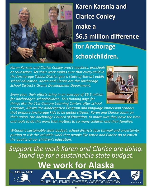 Support work like what Karen and Clarice do, let your state legislators know you want a sustainable budget now - http://bit.ly/2rV2685  #publicserviceproud