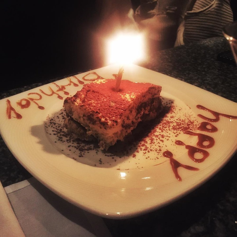 Birthday celebrations at Manetta's are the best. #longislandcity #LIC #licny #queensfood #queenseats #licfood #food #tiramisu #happybirthdaybroccoli #heartofqueens (at Manetta's Ristorante)