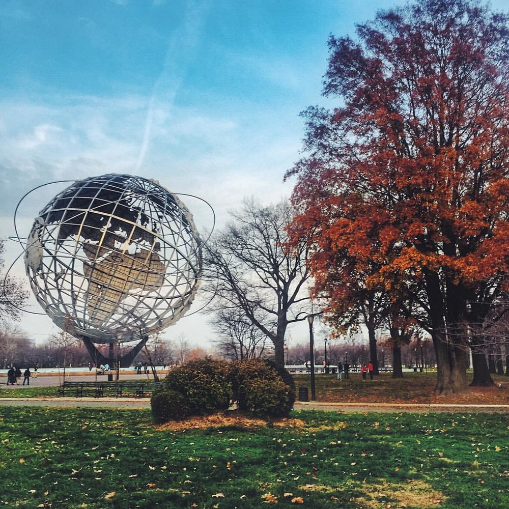 Unisphere sittin pretty           #queensnyc #queens #flushingmeadows #flushingmeadowscoronapark #heartofqueens #queenscapes #corona #flushing  (at Unisphere)