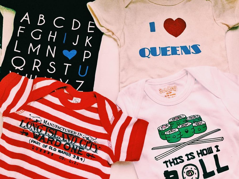 Don't forget that today is #SmallBusinessSaturday!! Got all these cute little onesies at #Queens small businesses. Get out there and support your favorite local shops! #shoplocal #shopQueens #queenscapes #heartofqueens #itsinqueens #astoriashopping #rockawayshopping #licshopping #glendaleshopping #astoria #rockaway #longislandcity #glendale (at Queens, New York)