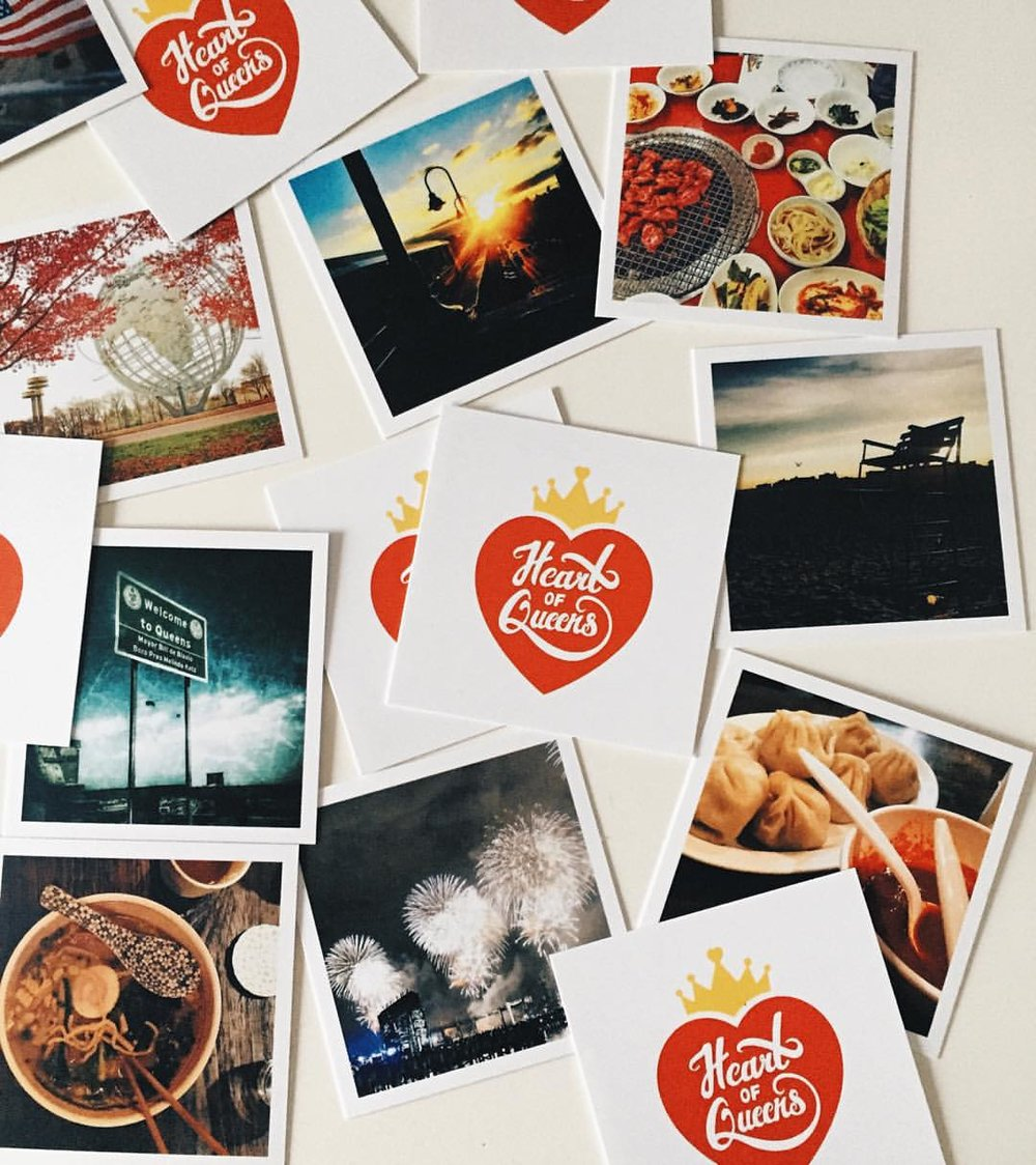 "Love my new ""business cards"" from Social Print Studio with Heart of Queens Instagram photos!"