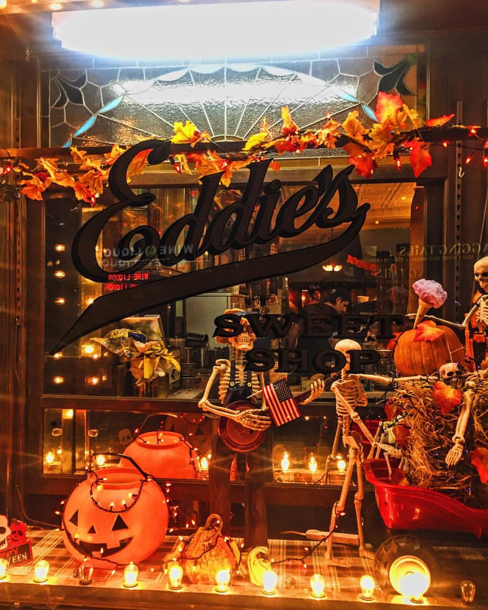 Eddies Sweet Shop in Forest Hills is all decorated for Halloween!