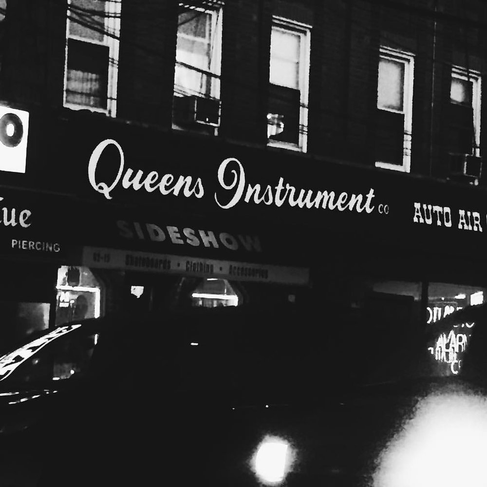 We have this thing with Q's - at Queens Instrument Repair on Eliot Avenue in Middle Village.
