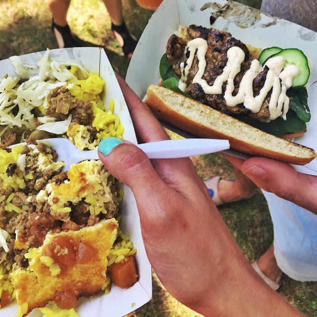 Day 26/100: This place is definitely becoming one of my favorites and they're regularly at @licflea …  this is a pic from the World's Fair Festival of Woza - a South African food vendor.  Two of our favorites: bobotie (minced meat with egg and chutney-sweet&savory) and the chicken prego roll. (at Flushing Meadows - Corona Park)
