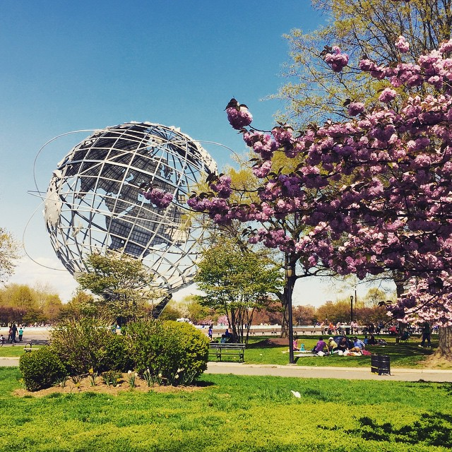 I loved you, Sunday.    #ughitsmonday #backtowork #flushingmeadows #corona #queens #queenscapes #unisphere (at Unisphere-Flushing Meadows Corona Park)