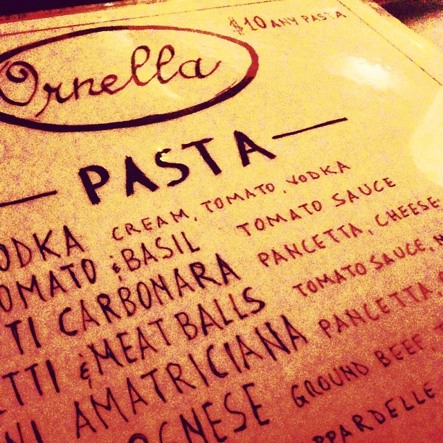 On Thursdays we eat pasta … for $10 🍝 #ornellatrattoria #astoria #queens #heartofqueens #10dollaranypasta (at Ornella Trattoria Italiana)