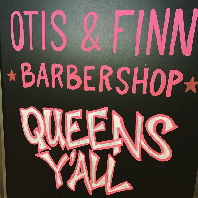 @smjhhh87 is gettin fresh for Valentine's Day @otisandfinnbarbershop #lic  (at Otis & Finn Barbershop)