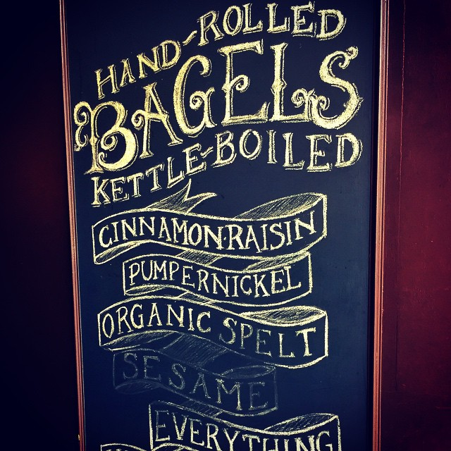 Love the hand-lettered chalkboard signs at Brooklyn Bagel #astoria #queens (at Brooklyn Bagel Ditmars Blvd Astoria Yo!)