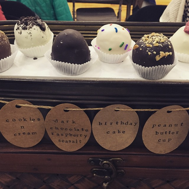 Some delicious @no_fork truffles @bohemianhallbeergarden #astoria