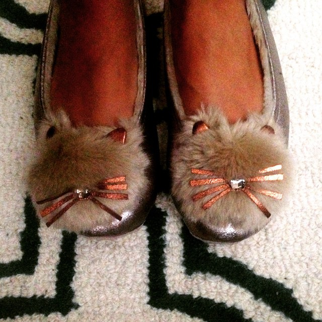 Love my new @rubyanded golden whisker slippers (@licliving ) from my parents! #lic #shoplocal