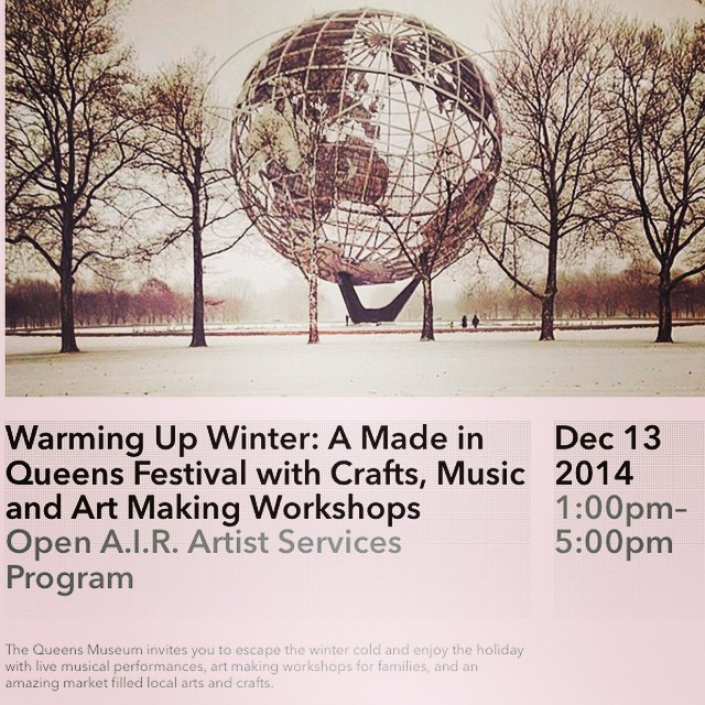 Tomorrow is the Warming Up Winter: Made in Queens Festival @queensmuseum Get some unique holiday gifts and support local artists like @queens88nyc ! #hechoenqueens (at Queens Museum)