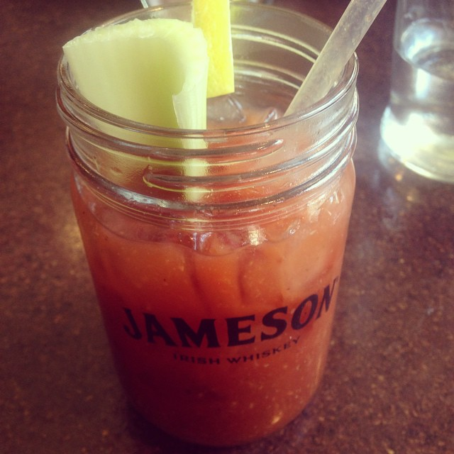 They always make a great Bloody Mary at Banter #foresthills #familybrunch (at Banter Irish Bar and Kitchen)