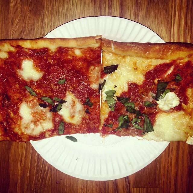 Pre-class sustenance: a meatball & a nonna @liniziopizzeria #lic 🍕👍👍 (at L'inizio Pizzeria)