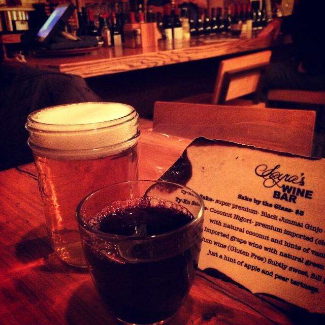 Wine + beer @sayraswinebar #rockaway via @lizzygilly23 (at Sayra's Wine Bar)