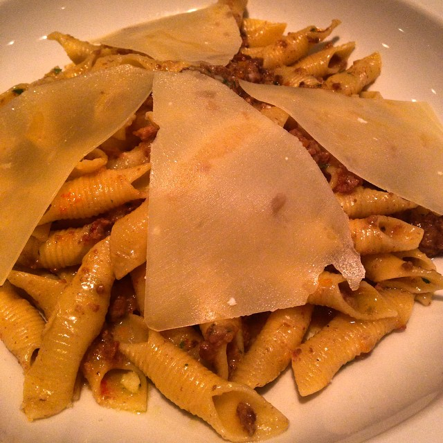 The special tonight @pizzeriaforno was delicious: garganelle with white bolognese #maspeth (at Forno Pizzeria e Trattoria)