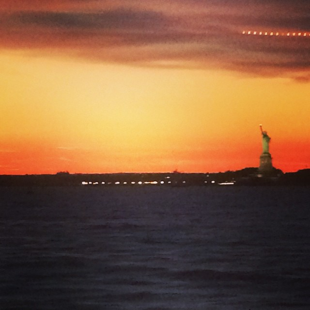 Ferry ride to #rockaway via @maryliz721 (at The Statue Of Liberty - Liberty Island NYC)