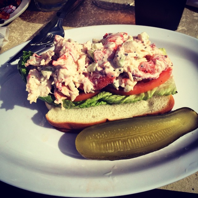 Lobster roll at the wharf #rockaway via @eyuneman (at The Wharf Bar & Grill)
