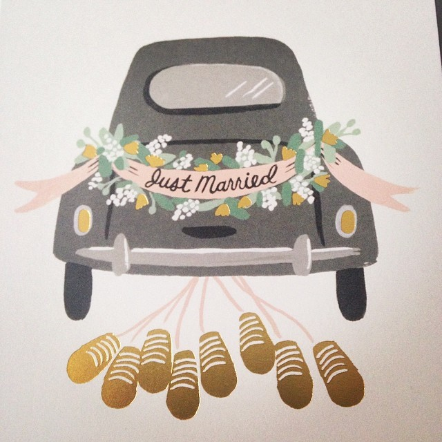 Thanks @hi_itsrebekah just picked up this @annariflebond 'Just Married' card from @licliving (at LIC: living)