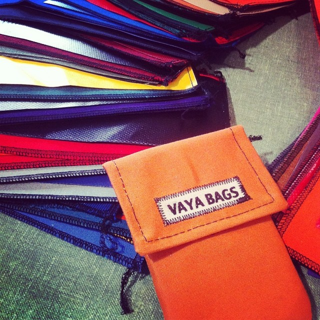 vayabags :     New cell pouches in progress! #vayabags #handmadeinnyc #waterproofbags #bikenyc     We need to come in soon and get some gear!
