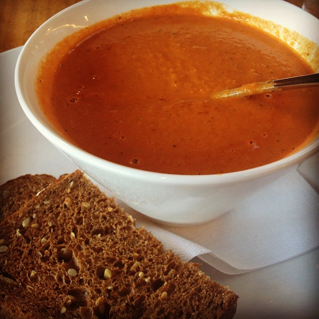 Perfect day for creamy tomato soup at Breadbox Cafe in Long Island City.       View  Queens, NY  in a larger map