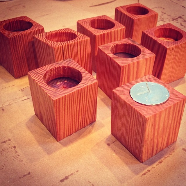 "urbancitybikeshelves :     These handmade wooden block tea lights will be sold at the Sweet Afton holiday market on Dec. 8th. Made from Douglas Fir and dipped in Danish Oil. Only a handful made specifically for the holiday market. So come through if your around! #sweetafton #astoria #astoriaqueens #thecuttingboardproject ""woodentealight #tealight     Look out for Urban City Bike Shelves at the Sweet Afton Holiday Market on Dec 8th!"