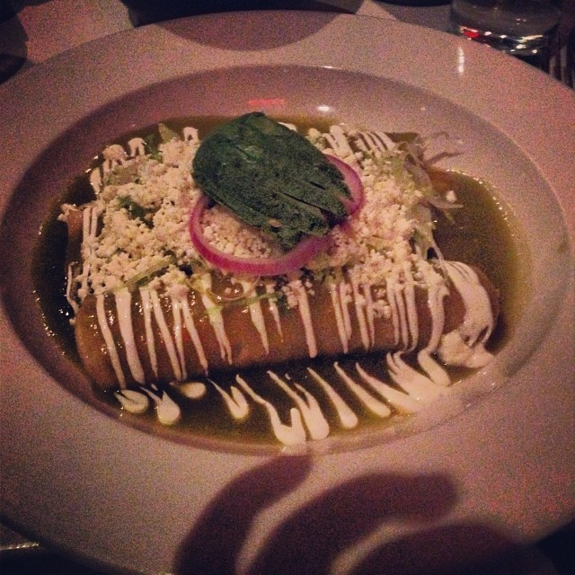 Enchiladas verdes from Casa Enrique in Long Island City via @rebmaxrac         View Larger Map