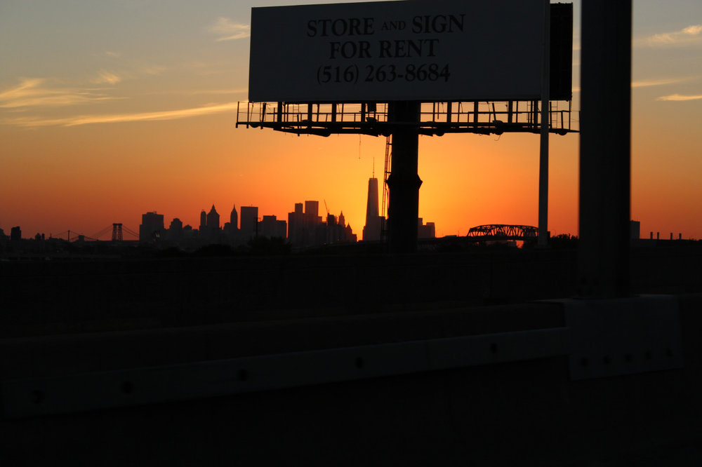 Long Island City Sunset – taken in motion on the LIE heading towards the Midtown Tunnel.