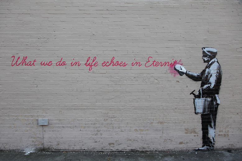 thehairdryertreatment: Banksy in Queens…
