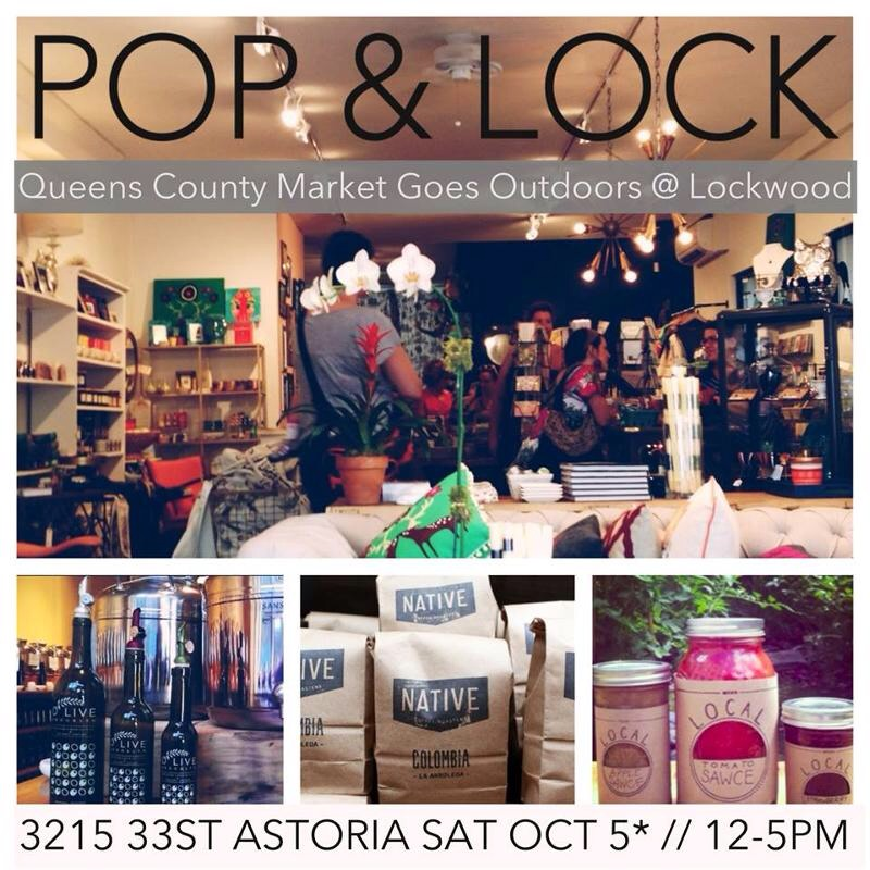 What to do this weekend:  Queens County Market is being hosted by Lockwood in Astoria this Saturday. Check out what local vendors will be there:  http://www.queenscountymarket.com/meetthevendors    Saturday, October 5th 12-5pm  32-1533rd Street  Astoria, NY