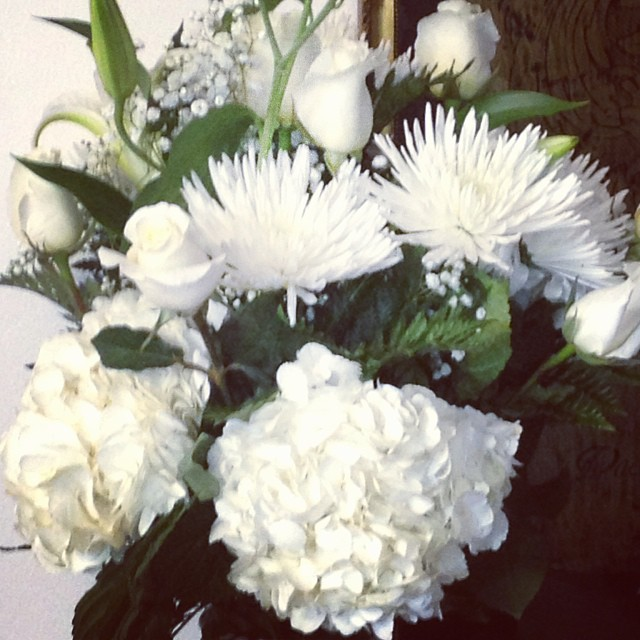 My mom bought out all the white flowers from Grand Florist in #Maspeth for my grandparents' anniversary!    Grand Florist   65-37 Grand Ave.  Maspeth, NY 11378        View Larger Map