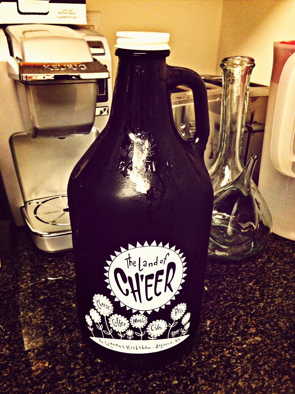 Got my @QueensKickshaw half gallon growler of cold brewed iced coffee for the week!   64 oz for $15  ($20 total if you're buying the growler for the first time)   Queens Kickshaw  40-17 Broadway  Astoria, NY  718-777-0913