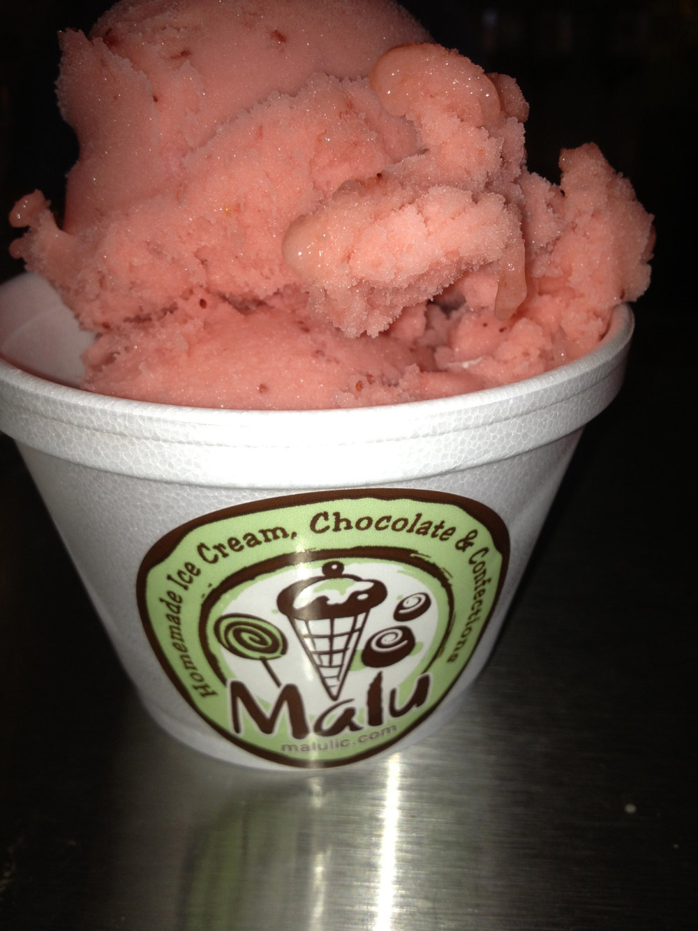 Favorite homemade sorbet: Strawberry Champagne from Malu in #LIC    12-09 Jackson Ave    Long Island City, NY 11101   718-729-6258