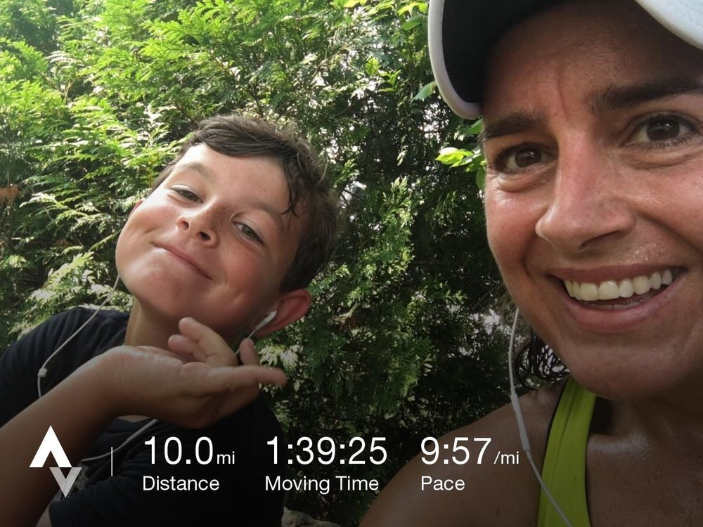 These days, I truly do LOVE running! Especially when my kids join me at the end of a long run.