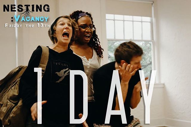 ONE MORE SLEEP UNTIL OPENING!!! #fridaythe13th #nestingpdx #nestingvacancy #pdxtheatre #originalwork #independenttheatre #bts #photography #rehearsal #latergram #tbt #countdown #actors #1day #lightroom #philchesterpresets #canon60d #photographer #kkellyphotography #shoeboxtheater #thriller #suspense #horror #episodic