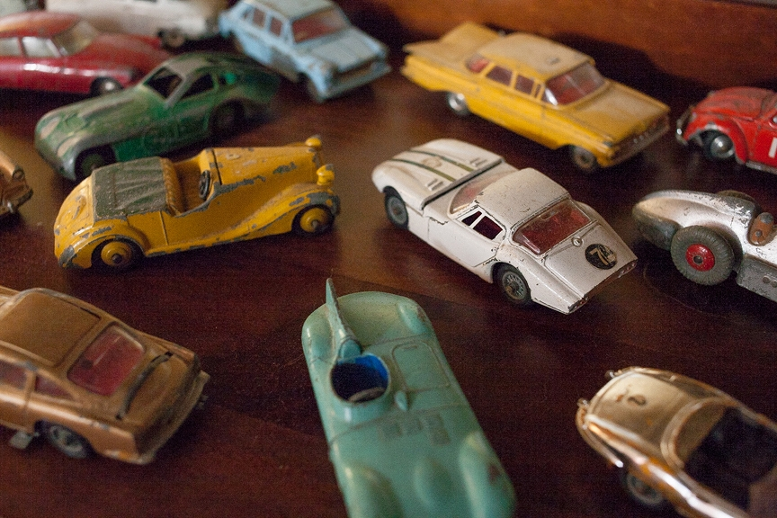 Mike's childhood toy cars