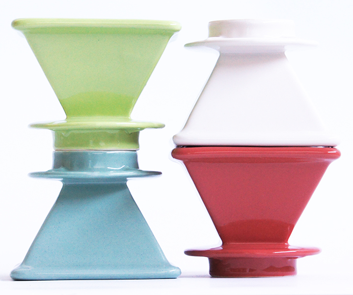 AMAZING COFFEE PYRAMID DRIPPER - Handmade in Oregon by Flat White Ceramics.
