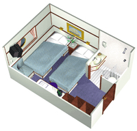 Category 2-4 Stateroom w/Single Beds