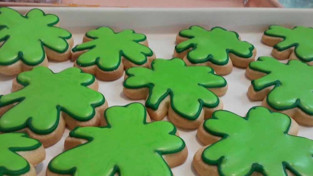 Shamrock Sugar Cookies at Delightful Pastries