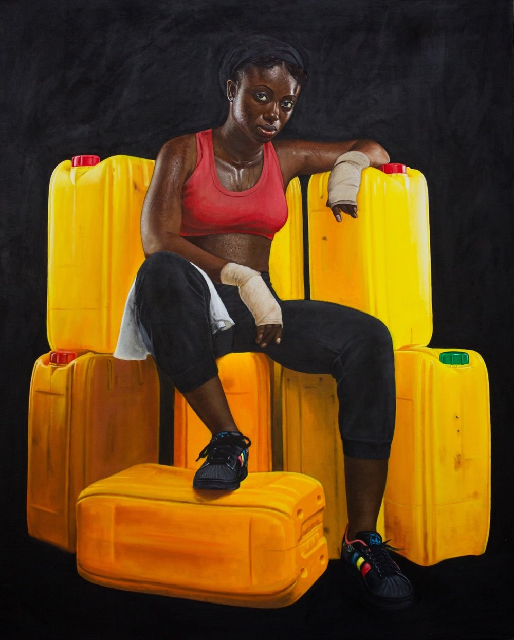 Jeremiah Quarshie, Franklina, Yellow is the Colour of Water, 2016. Courtesy Gallery 1957 and artist.