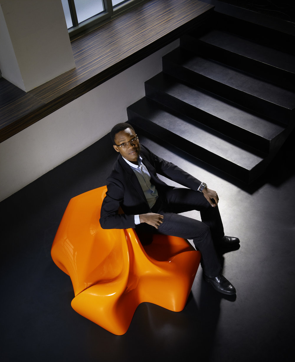 Portrait of Ifeanyi Oganwu on Full Circle. Photo Giles Pernet, courtesy Expand Design Ltd. and Galerie Armel Soyer.