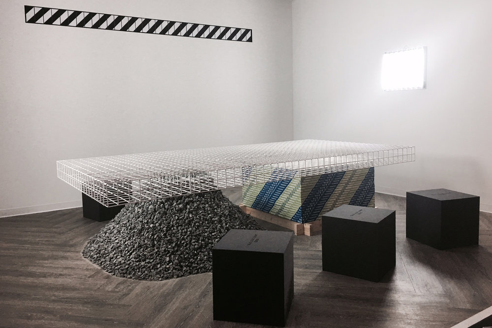 Installation view of the OFF-WHITE exhibit at Design Miami/ 2016.