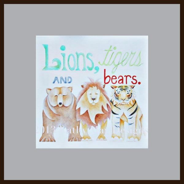 liontigerswallartframed